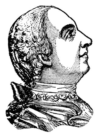 James Wolfe, 1727-1759, he was a British army officer, famous for his training reforms and for his victory in 1759 over the French at the Battle of the Plains of Abraham in Quebec, vintage line drawing or engraving illustration