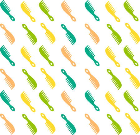 Hairbrush wallpaper, illustration, vector on white background. Banque d'images - 152546639