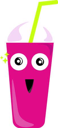Fresh drink, illustration, vector on white background.