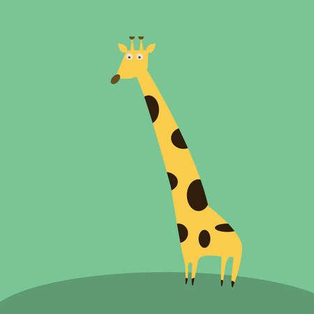 Big giraffe, illustration, vector on white background. Ilustração