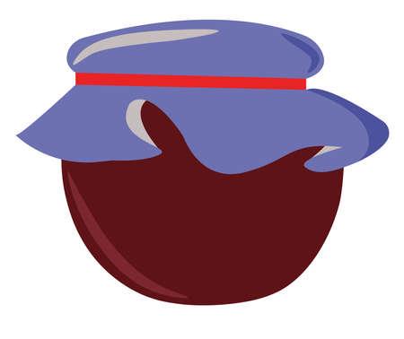 Jam in jar, illustration, vector on white background.