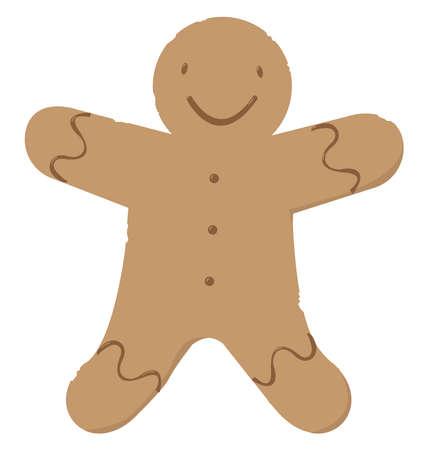Gingerbread, illustration, vector on white background. 矢量图像