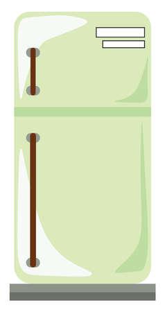 Refrigerator, illustration, vector on white background.