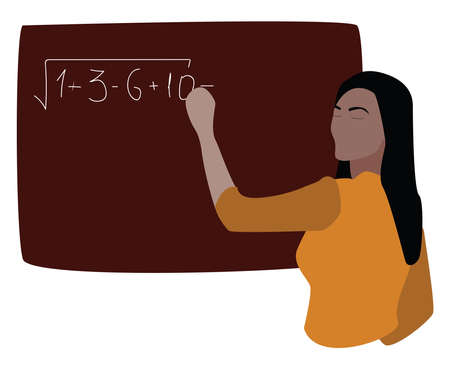 Math teacher, illustration, vector on white background. 向量圖像