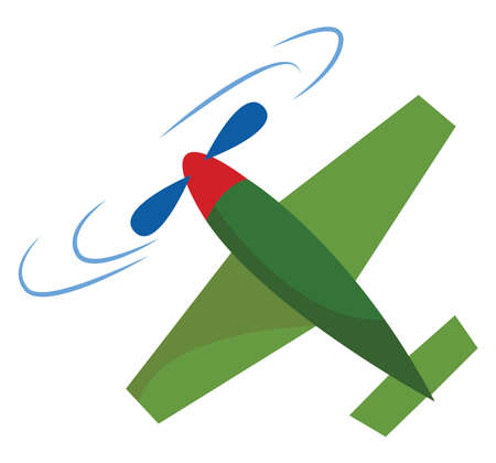 Airplane toy, illustration, vector on white background.