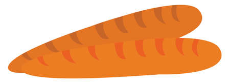 Baguette, illustration, vector on white background. Ilustracja