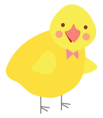 Happy chicken, illustration, vector on white background. 矢量图像