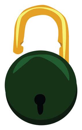 Lock, illustration, vector on white background. Illusztráció