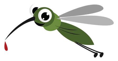 Mosquito bite, illustration, vector on white background. 向量圖像