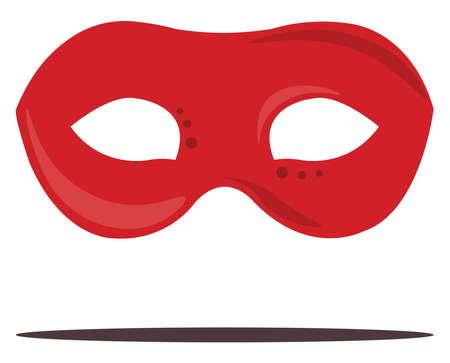 Red mask, illustration, vector on white background. Vektorové ilustrace