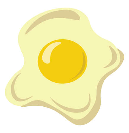 Omelette, illustration, vector on white background.