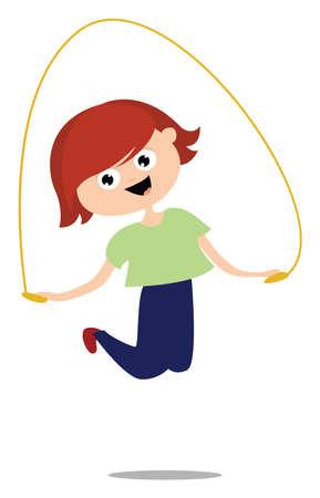 Skipping rope, illustration, vector on white background.