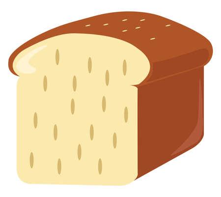 Bread, illustration, vector on white background.