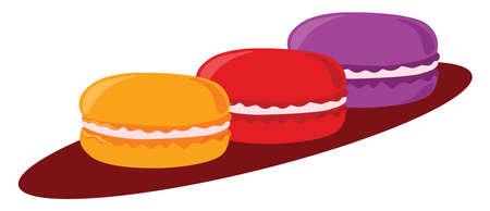 Macarons, illustration, vector on white background. 矢量图像