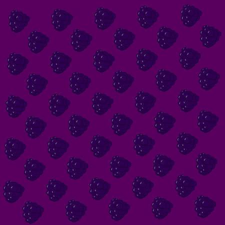 Blackberry wallpaper, illustration, vector on white background.
