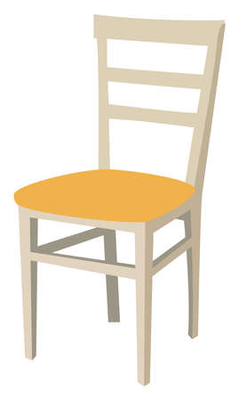 Chair, illustration, vector on white background.