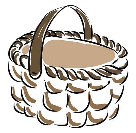 Basket, illustration, vector on white background. Illusztráció
