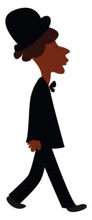 Black suit, illustration, vector on white background.