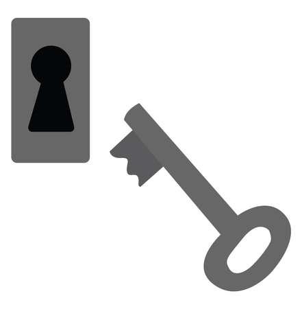 Keyhole, illustration, vector on white background.