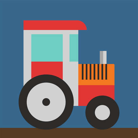 Toy tractor, illustration