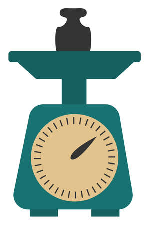 Weight, illustration, vector on white background.