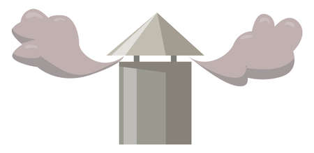 Chimney, illustration, vector on white background. 矢量图像