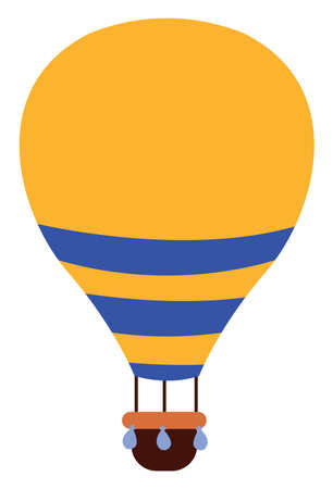A hot air balloon, illustration, vector on white background. Ilustrace