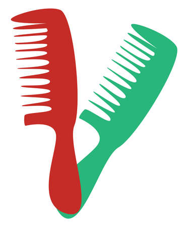 Combs, illustration, vector on white background.