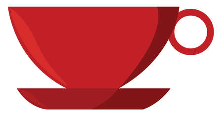 Red cup, illustration, vector on white background. Banque d'images - 152545815