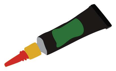 Super glue, illustration, vector on white background.