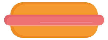 Hot dog, illustration, vector on white background. 向量圖像