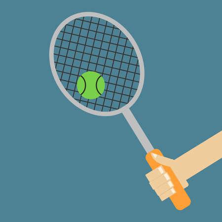 Tennis racket, illustration 向量圖像