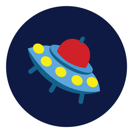 UFO, illustration, vector on white background. Stock fotó - 152554159