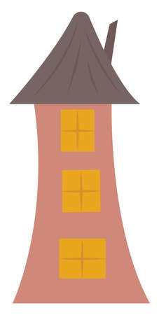 High house, illustration, vector on white background. Ilustracja