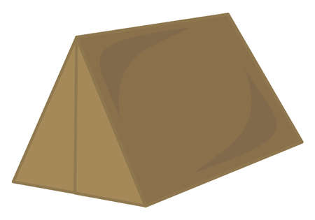 Brown tent, illustration, vector on white background.