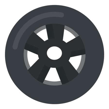 Wheel, illustration, vector on white background.