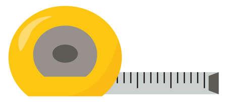 Tape measure, illustration, vector on white background. Ilustracja