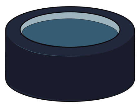 A good hockey puck, illustration, vector on white background. Banque d'images - 152554473