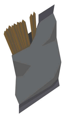Chocolate sticks, illustration, vector on white background.