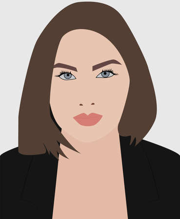 Woman in suit, illustration, vector on white background.