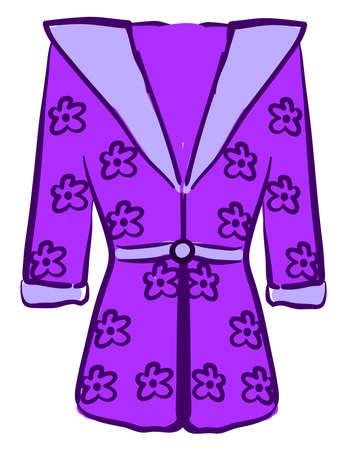 Purple bathrobe, illustration, vector on white background. Vecteurs