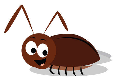 Small beetle, illustration, vector on white background.