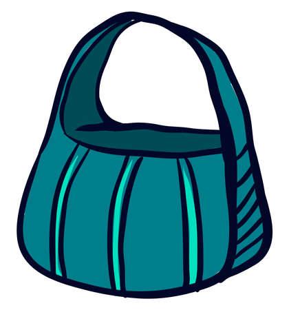 Big blue bag, illustration, vector on white background.