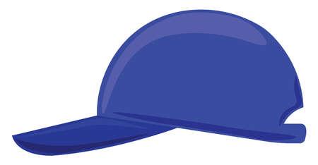 Blue cap, illustration, vector on white background. Banque d'images - 152550965