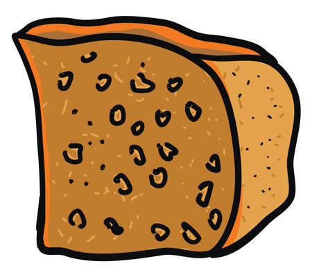 Cornbread bread flat, illustration, vector on white background. Ilustração