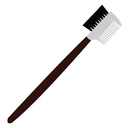 Comb for eyelashes, illustration, vector on white background.
