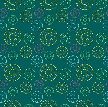 Donuts wallpaper, illustration, vector on white background. 向量圖像