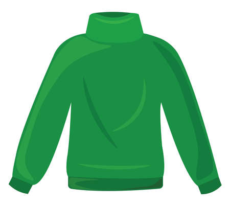 Green blouse, illustration, vector on white background.