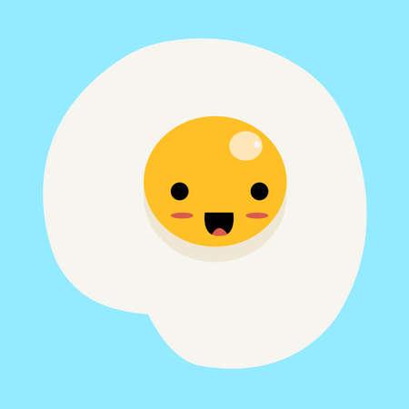 Happy egg, illustration, vector on white background.
