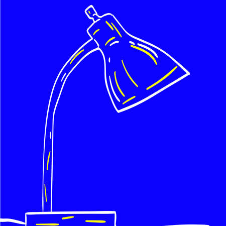 Drawing of a lamp, illustration, vector on white background.